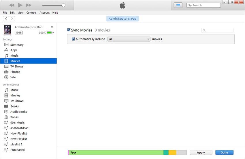 Poner Peliculas en el iPad - Sincronizar Peliculas con el iPad