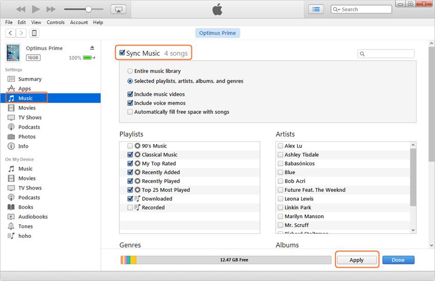 transfer music from ipad to ipad - Sync Music to iPad