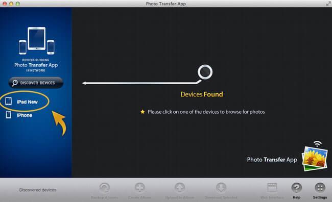 transferir fotos desde Mac al iPad con aplicaciones