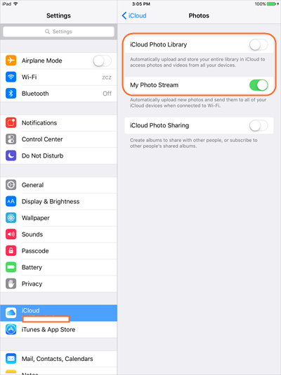 Transfiere Fotos desde el iPad a la Tarjeta SD con iCloud - Enciende Secuencia de Fotos
