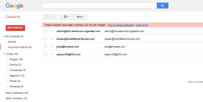Transferir los contactos del iPhone a Gmail usando un programa aparte - dr.fone - Transferencia