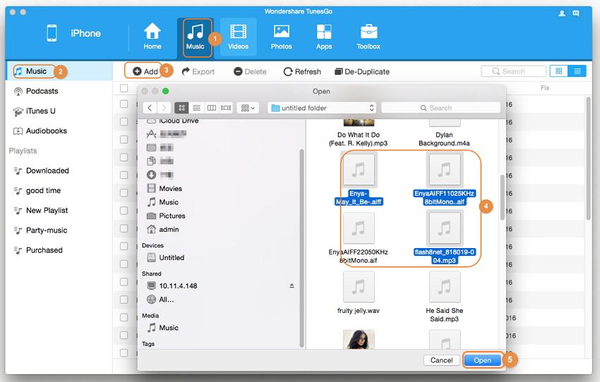 Transferir canciones del iPhone a Mac sin iTunes