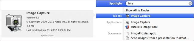Utiliza ImageCapture para transferir el Carrete del iPhone a Mac