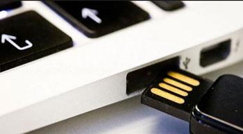 Transferir fotos del iPhone a l unidad flash - de la PC al disco duro paso 1
