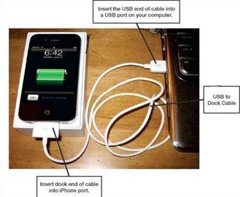 Transferir fotos del iPhone a la unidad flash - usando iPhoto paso 1