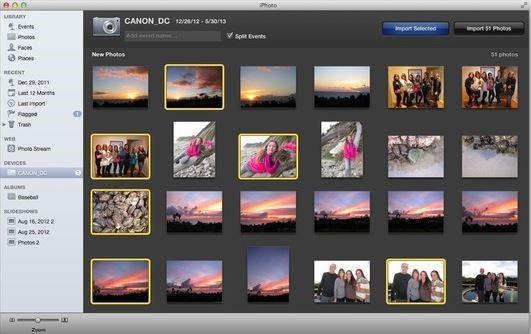 Transferir fotos del iPhone a la unidad flash - usando iPhoto paso 2
