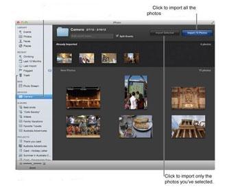 Transferir fotos del iPhone a la unidad flash - usando iPhoto paso 3