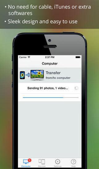 aplicación de transferencia de fotos