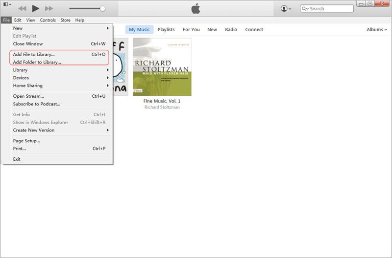Transferir música no comprada de iPod a iTunes - Agregar Archivos de Música
