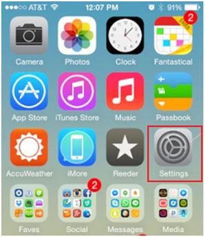 Eliminar Canciones Duplicadas en iPod/iPhone/iPad-inicia la aplicación de ajustes