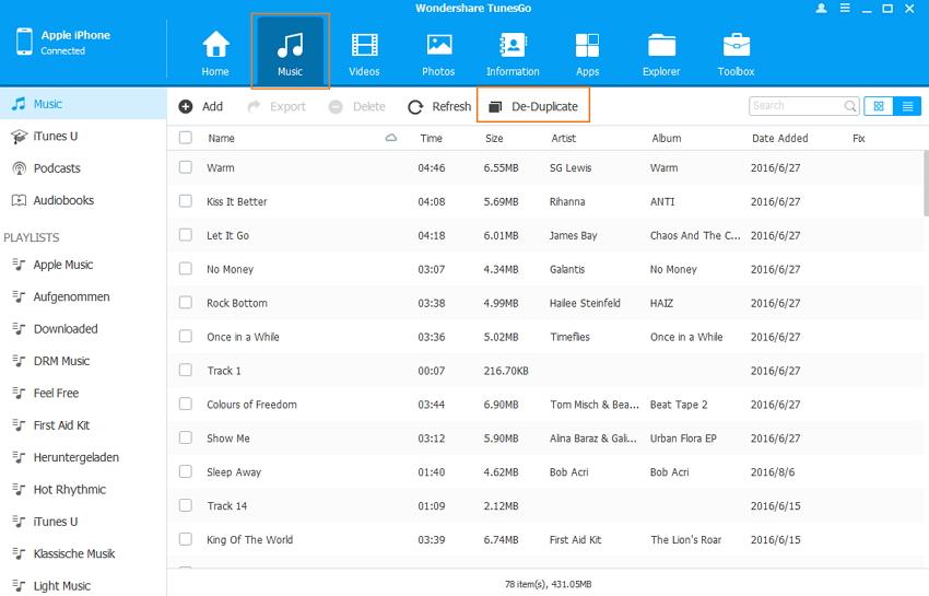 Eliminar Canciones Duplicadas en iPod/iPhone/iPad-De-Duplicar