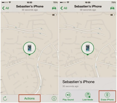 Formatea el iPod sin iTunes-pulsa el botón de acción y borra el iphone