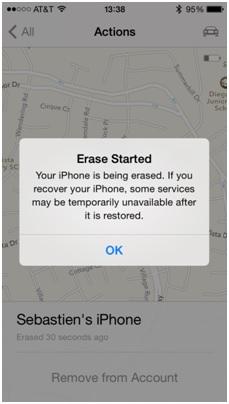 Formatea el iPod sin iTunes-presiona ok para quitar el mensaje