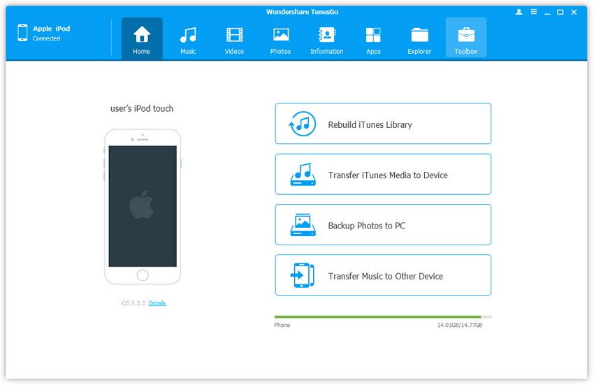 transferencia de iOs - cómo sincronizar el iPod con iTunes