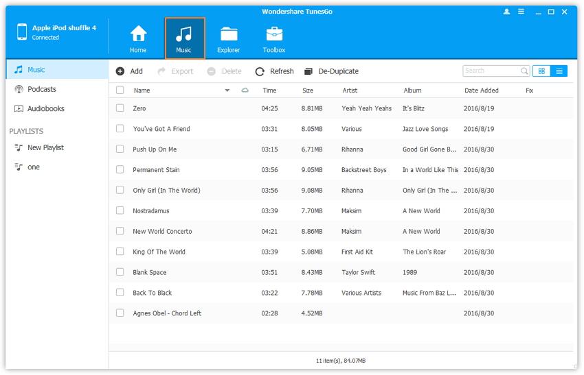 transferir canciones desde el ipod shuffle a itunes