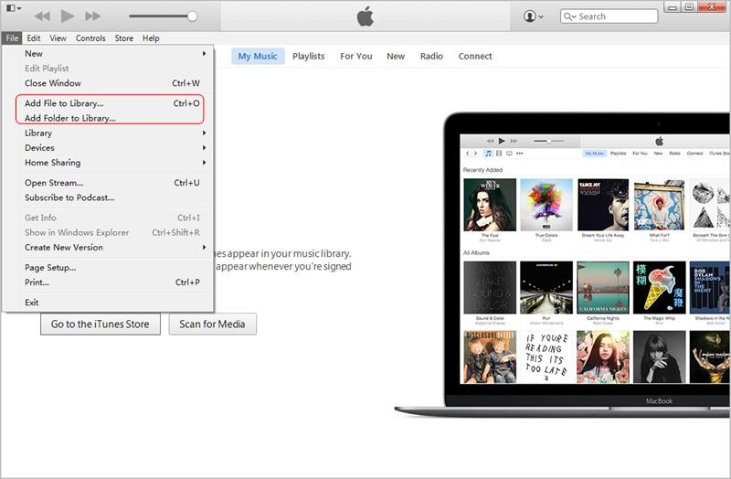 Añadir archivos a la biblioteca de iTunes