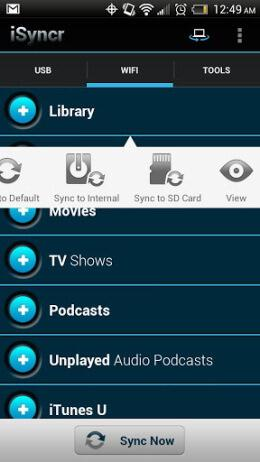 playlist de iTunes en android