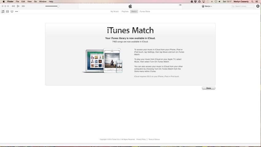 Cómo sincronizar el iPad con iTunes-iTunes Match recopila la biblioteca de iTunes