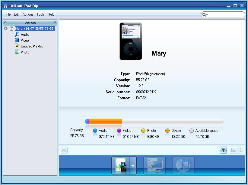 transfiere videos desde el ipod a itunes-Xilisoft iPod Rip