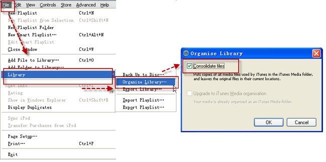 Transferir música de iTunes desde PC a Mac-organizar la biblioteca