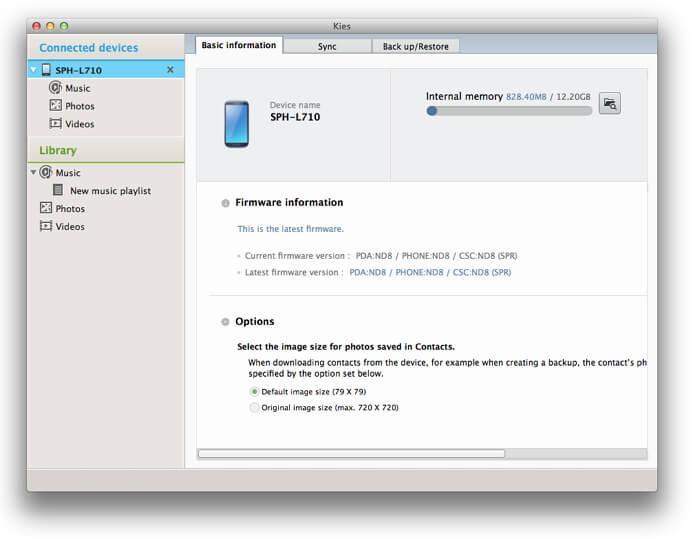 iTunes para Tableta Samsung 3