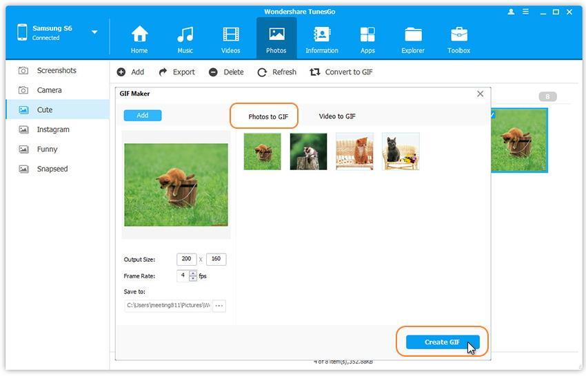 Convert Android Photos Videos to GIF