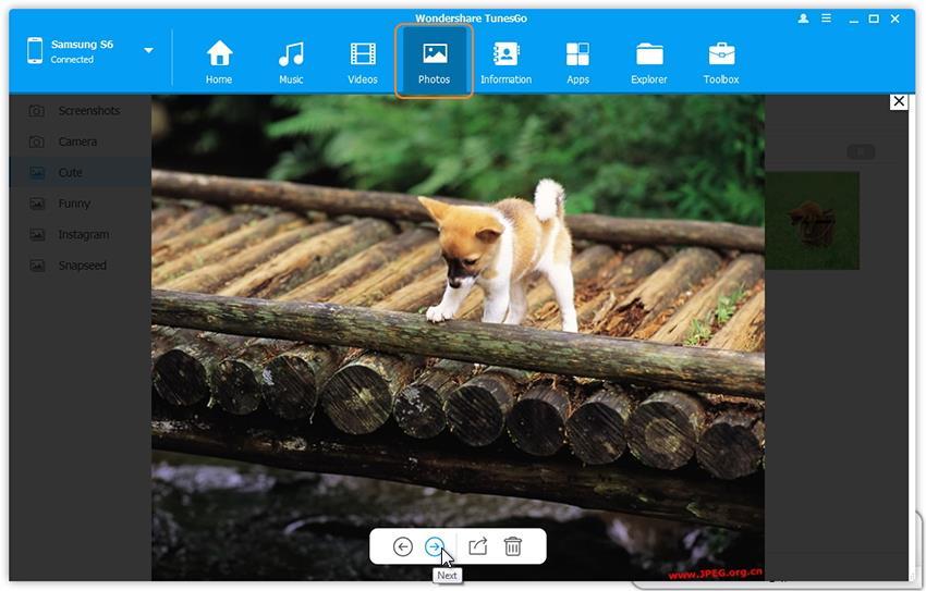 administra fotos en Samsung Galaxy S8 con el Administrador de Samsung Galaxy S8