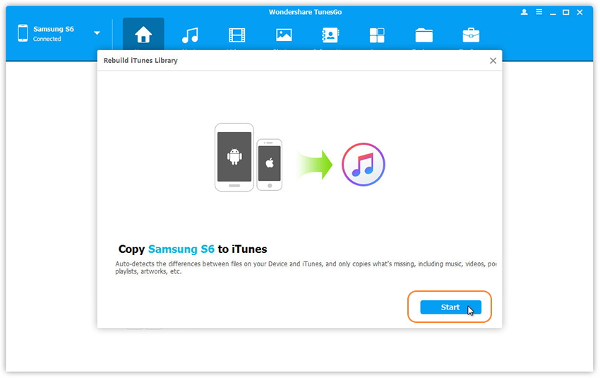 Transfer from Android to iTunes Library