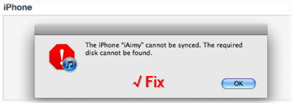 Fix iOS/iPod - Your iDevice can't be synced to iTunes