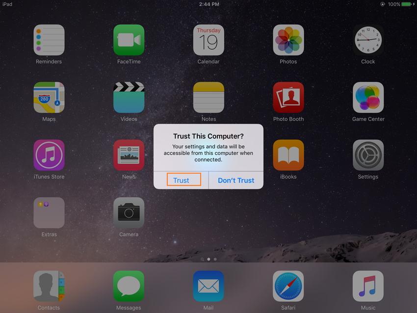 Wie man mit dr.fone Lieder auf iOS 11 überspielt - Schritt1: dr.fone ausführen und das iOS 11-Gerät an den PC anschließen