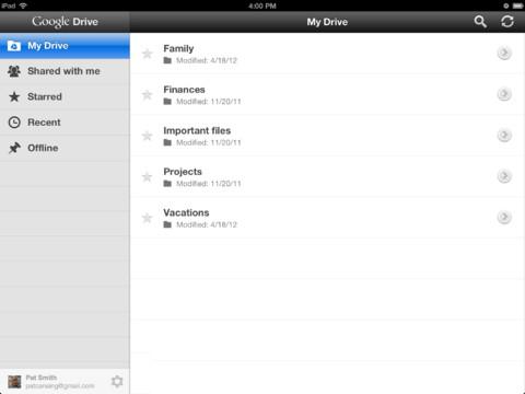 Transférer des fichiers d'iPhone vers iPad via Google Drive - Télécharger des fichiers iPhone