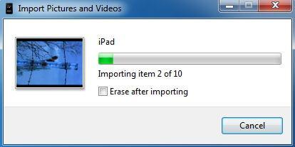 Sauvegarde Photo iPad - Importer des photos iPad