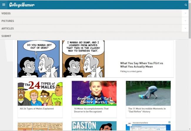 Top 5 des sites de téléchargement de vidéos gratuits pour PC - Allez à CollegeHumor