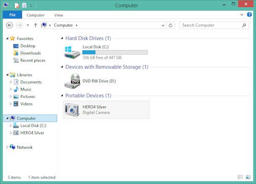 transférer des photos de l'appareil photo vers iPad avec TunesGo Retro - Connecter l'appareil photo au PC