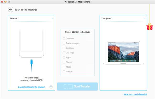 Transférer des photos d'iPad vers Mac en utilisant Wondershare MobileTrans - Connecter iPad à l'ordinateur