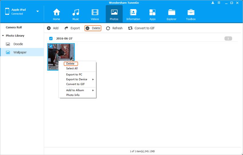 Delete Duplicate Photos on iPad - Delete Photos