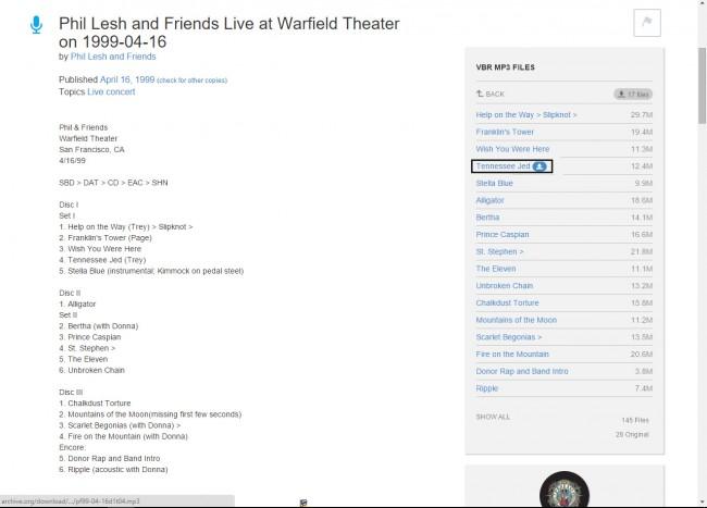 Téléchargez de la musique de Live Music Archive sur PC - Télécharger Musique