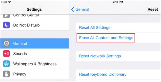 synchroniser les contacts d'iPhone vers iPad avec icloud -étape 2: activer la sauvegarde iCloud