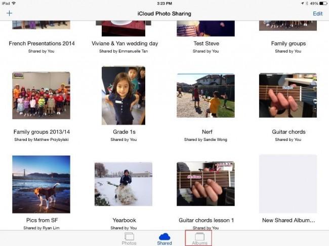 Transférer des photos d'un iPhone vers un iPad en utilisant la Bibliothèque Photo iCloud