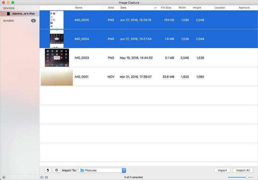 Transférer des photos d'iPad vers Mac en utilisant iTunes- Importer des Photos