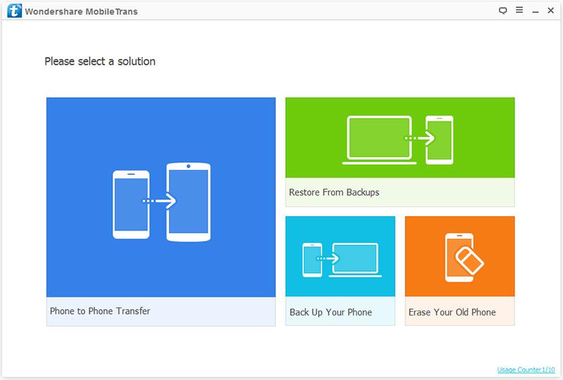 Transfert de contacts d'iPhone vers iPad - Démarrez MobileTrans