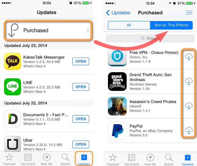 Transférer des applications d'iPad à iPhone avec iCloud - Télécharger des applications iPad