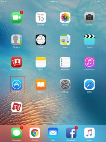 Transférer des applications d'iPhone à iPad avec App Store - Ouvrir App Store sur iPad