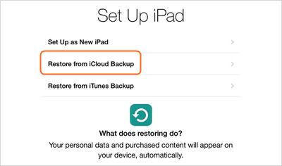 synchroniser les contacts d'iphone à iPad avec icloud - faire glisser l'écran principal d'iPad pour démarrer le processus