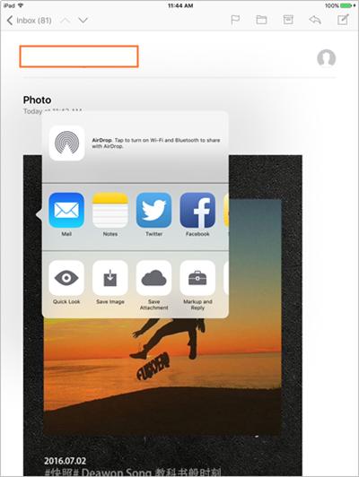 Transférer des fichiers d'iPhone vers iPad par courrier électronique