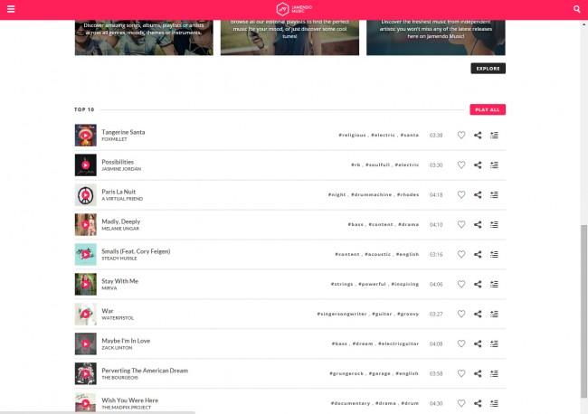 Télécharger de la musique de Jamedo sur PC - Sélectionner Musique