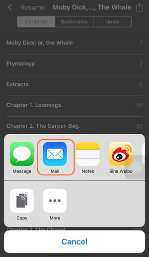 Transférer les livres de l'iPad vers l'ordinateur par mails - étape 2 attachez les livres