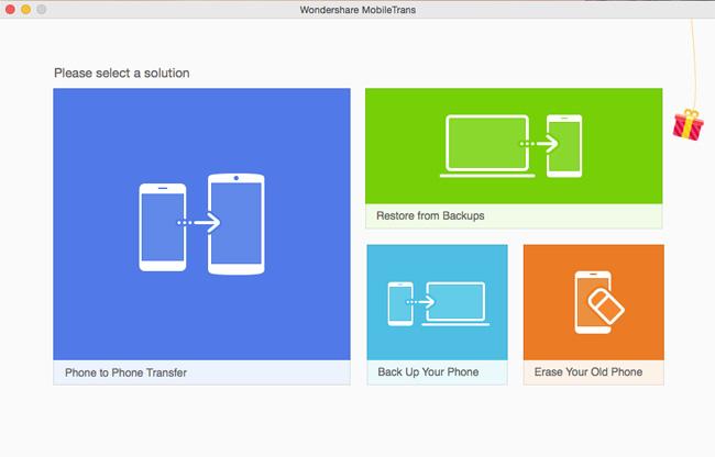 Transférer des photos d'iPad vers Mac en utilisant Wondershare MobileTrans - Démarrer Mobiletrans