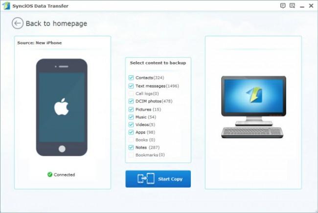 Transférer des applications d'iPad à l'ordinateur avec un logiciel tiers de transfert iPad - Syncios