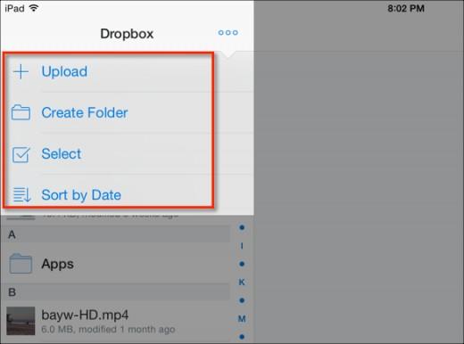 Transfert de musique d'iPad vers Mac à l'aide de Dropbox - Ajouter des photos